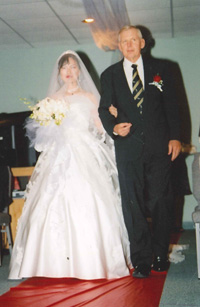 Dick Mcgrew walked Yumei Zhang down the aisle at her wedding.