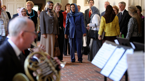 Welcoming our honored guests