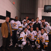 BRHC champs pose with President Reveley