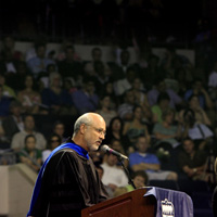 Mike D'Orso spoke at Old Dominion University's 2006 commencement/Photo by Bill Tiernan