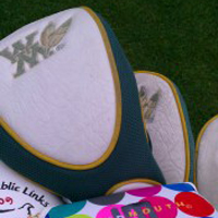 Erika Malik's head covers pay tribute to her alma mater