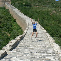 W&M student Caitlin Roberts at the Great Wall
