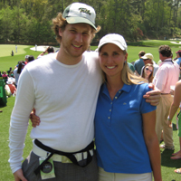 Erika and Chuck Malik at Augusta National