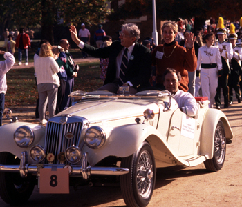 The Sullivans rode in 14 parades while Tim was president at William & Mary.
