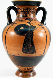 Attic Black-Figure Amphora of Panathenaic Shape, ca. 490-480 B.C. Near the Eucharides Painter, Terracotta. Virginia, Private Collection
