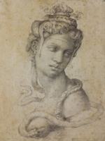 Cleopatra by Michelangelo, Florence, Casa Buonarroti. Click for larger image