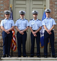 Members of W&M's Coast Guard Auxiliary detachment.