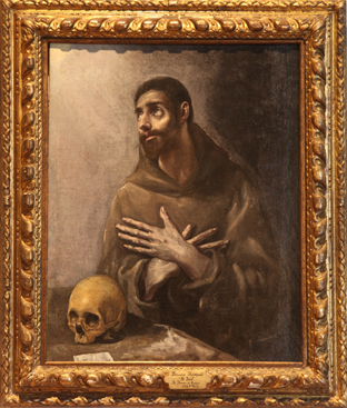 St. Francis of Assisi, circa 1576, by El Greco