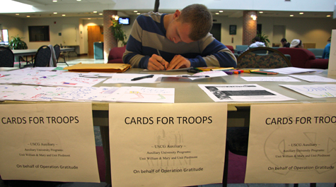 Cards for troops