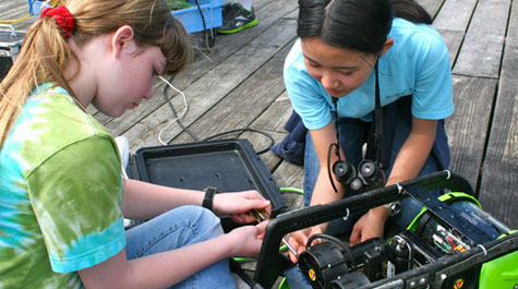 Fixing a submarine