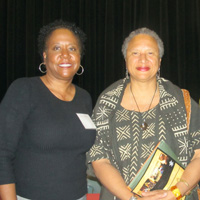 Lemon Project co-chair Jody L. Allen with Cummings Professor of English Joanne M. Braxton