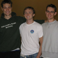 From left: Nathan Walker, T.J. Wallin, Ryan Fliss