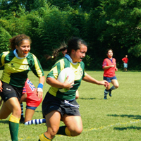 The women's club rugby team is 5-0 entering the second round of the playoffs.