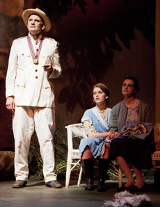 Jim Dwyer as Father Jack, Rebecca Turner as Rose and Madeleyn Murphy as Agnes (Photo by Matthew Allar)