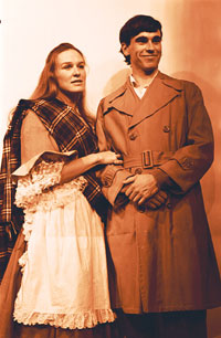 Glenn Close in a publicity photo for the production of ''Brigadoon'' (courtesy of Swem Library's Special Collections Research Center)
