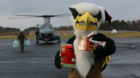 Toys for tots and mascots