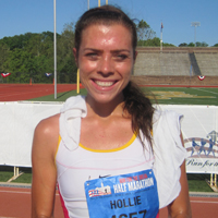 Women's half-marathon winner Hollie Heimer