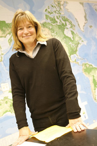 Ellen Stofan in a W&M geology class in 2008