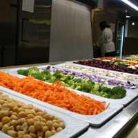 There will be an abundance of fresh salad offerings throughout campus.