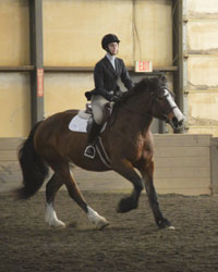 Jess participates in a regional competition last year as part of the W&M Equestrian Team.