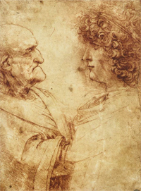 ''Study of the Heads of an Old Man and a Youth''