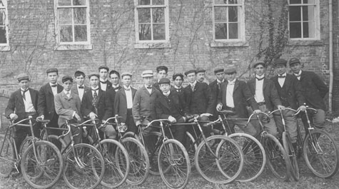 Cycling Club at W&M, circa 1900