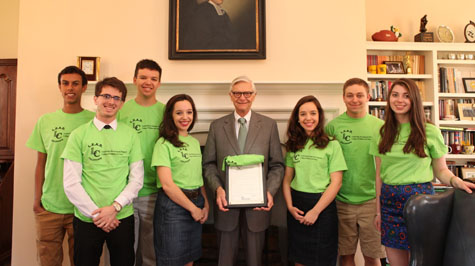 President Reveley honored