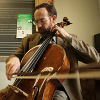 Neal Cary is one of six music faculty members who will perform in the concert. Photo by Stephen Salpukas.