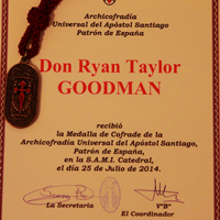 Goodman's Certificate of Induction into the Archconfraternity of St. James