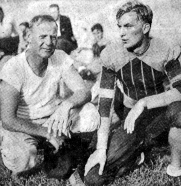 Walt Zable (r) during his playing days at W&M