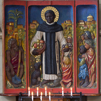 A shrine to St. Martin de Porres