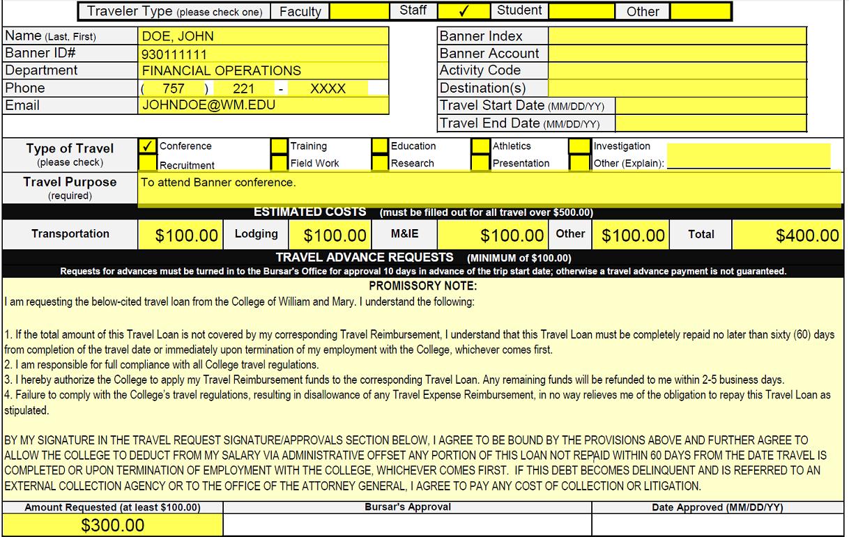 William & Mary - Travel & Reimbursement Mandatory Direct Deposit ...