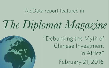 AidData Report featured in The Diplomat Magazine