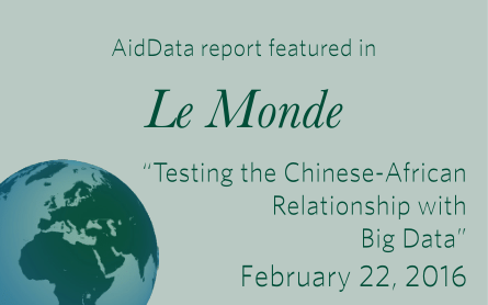 AidData Report featured in Le Monde