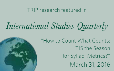 TRIP research featured in International Studies Quarterly