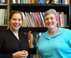 TRIP Project Manager Lindsay Hundley '12 and Principal Investigator Sue Peterson