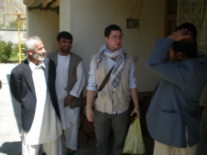 James Long visiting the Electoral Complaints Commission in the Panjsher Valley, Afghanistan, in 2010.