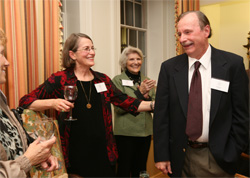 Professor Emeritus of Government James A. Bill, pictured here at the Reves Center's 20th anniversary celebration in 2009, will be honored an honorary degree of doctor of humane letters during the Charter Day ceremony.