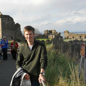 Peter Klicker in St Andrews, Scotland