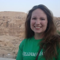 Atkins wearing her W&M pride in Jordan.