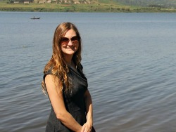 Sarah Glaser at Lake Victoria.