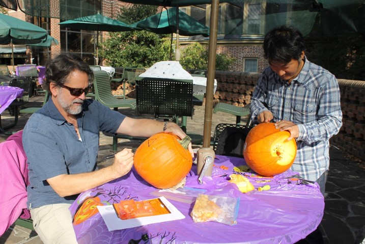 The Reves Center's annual Pumpkin Carving Event