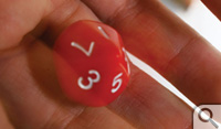 Regular six-sided dice are used to determine performance of each participant's investment.