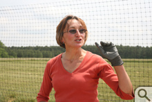 With the plot's deer-resistant fence as a backdrop—few fences are deer-proof, she says—Williamsburg Winery's Master Gardener Evi Oakley discusses her philosophies of the field.