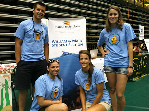 Officers of the student section of the Marine Technology Society at William and Mary