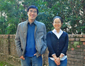 Technology innovators Hao Han and Nan Zheng
