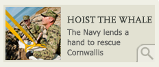 The Navy lends a hand to rescue Cornwallis