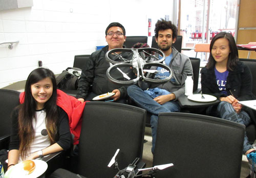 Drone Goals was made up of (from left) Mackenzie Morrow Foster '17, Jose Acuna '17, Nick Rance 17 and Shennie Yao.